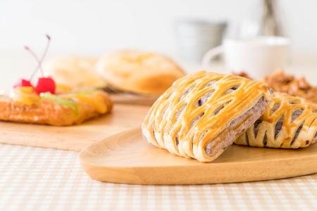 puff: taro pies on the table