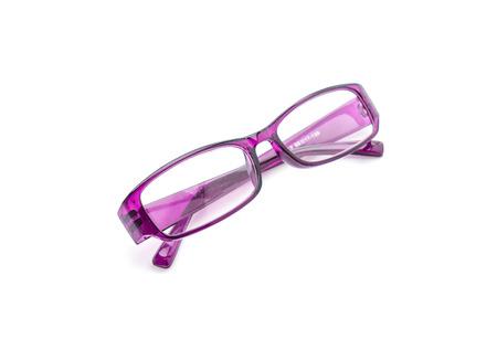 eyeglasses, spectacles or glasses on white background Stock Photo