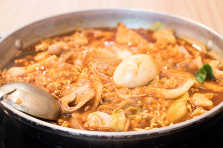 Tokpokki is a traditional Korean food, hot pot style.