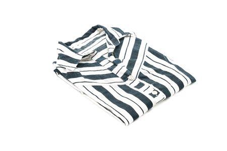 sweatshirt: shirt. folded t-shirt on white background Stock Photo
