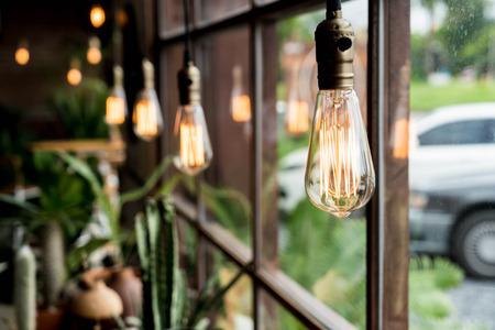 lamp light: Beautiful light lamp decor glowing Stock Photo
