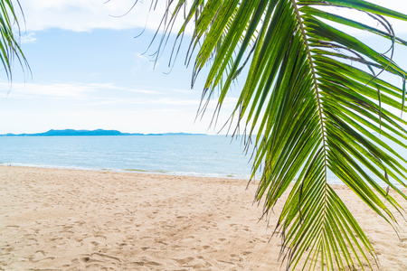 Palm and tropical beach at Pattaya in Thailand - boost up color and lighting processing style