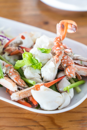 Sculling crab or steam crab leg - seafood Stock Photo