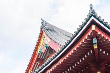 Beautiful Architecture at Sensoji Temple around Asakusa area in Tokyo, Japan Stock Photo