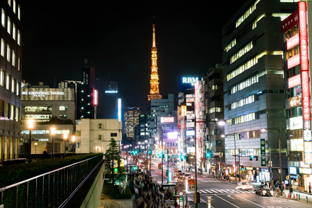 TOKYO, JAPAN - NOV 15: With over 35 million people, Tokyo is the worlds most populous metropolis and is described as one of the three command centers for world economy November 15, 2016 in Tokyo, Japan.