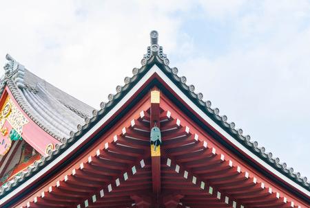 shinto: Beautiful Architecture at Sensoji Temple around Asakusa area in Tokyo, Japan Editorial