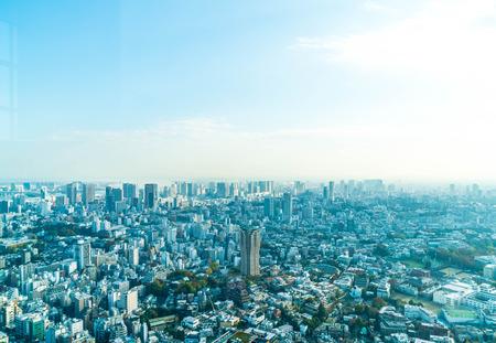Tokio stad skyline met Tokyo Tower, Tokyo Japan Stockfoto - 72117638