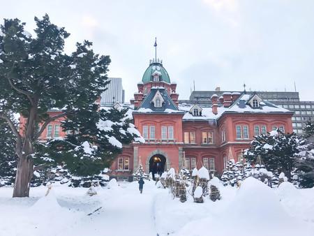 oficina antigua: Former Hokkaido Government Office in Sapporo, Japan Foto de archivo
