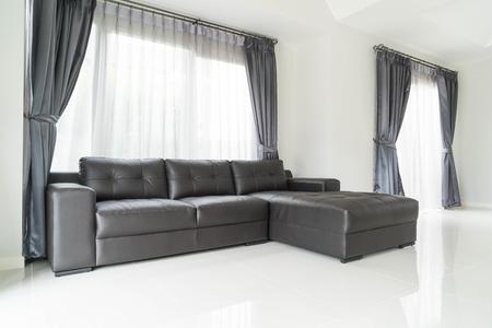 modern living: modern sofa interior decoration in living room Editorial