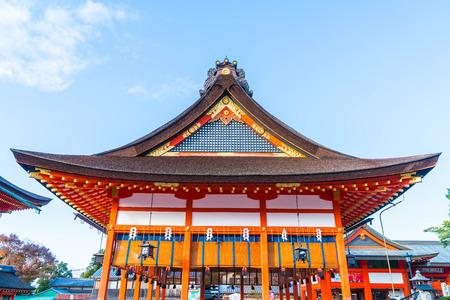 shinto: Beautiful Architecture Fushimiinari Taisha ShrineTemple in Kyoto, Japan