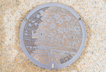 drainage cover in Kyoto, Japan