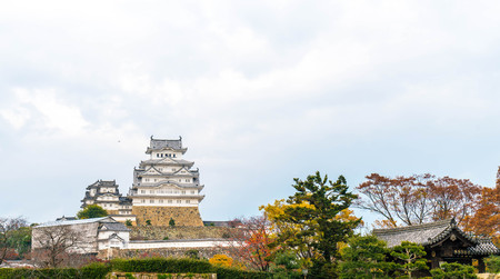 prefecture: Beautiful Architecture Himeji Castle in Hyogo Prefecture, Japan, UNESCO World Heritage