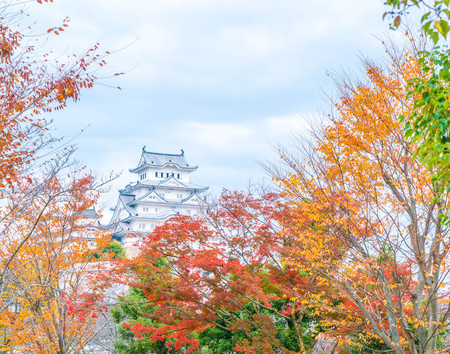 Beautiful Architecture Himeji Castle in Hyogo Prefecture, Japan, UNESCO World Heritage