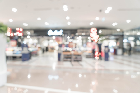 shallow: abstract blur luxury retail store in shopping mall for background