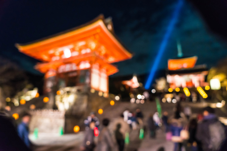 abstract blur Kiyomizu-dera Temple Kyoto, Japan for background