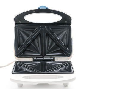 house ware: Electric sandwich maker on white background