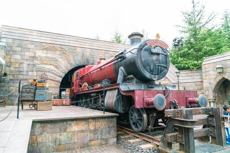 Osaka, Japan - NOV 21, 2016: The Wizarding World of Harry Potter in Universal Studios Japan. Universal Studios Japan is a theme park in Osaka, Japan.