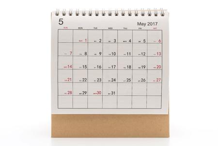 2017 calendar on white background Stock Photo