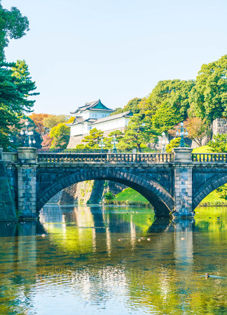 Beautiful Imperial palace building in Tokyo, Japan