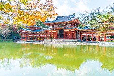 Beautiful Architecture Byodo-in Temple at Kyoto Japan. Editorial