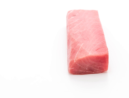blue fish: fresh tuna on white background