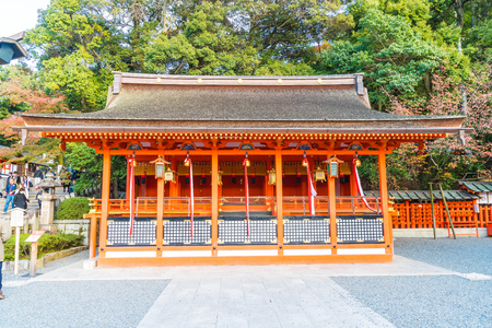 Fushimi Inari Shrine, Japan - 2016 NOV 23 : Fushimi Inari Shrine is an important Shinto shrine in southern Kyoto. It is famous for its thousands of vermilion torii gates. Editorial