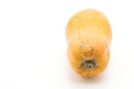 fresh papaya on white background