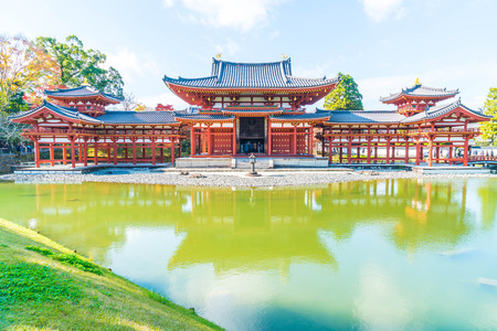 Beautiful Architecture Byodo-in Temple at Kyoto Japan. Stock Photo