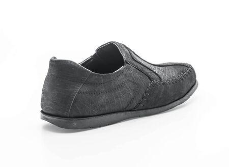 beautiful men leather shoe isolated on white background Stock Photo