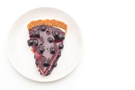 blueberry pie isolated on white background Stock Photo
