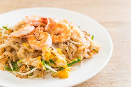 Thai Fried Noodles Pad Thai with shrimps or prawns