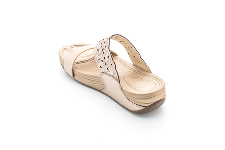 beautiful women sandal isolated on white background Stock Photo