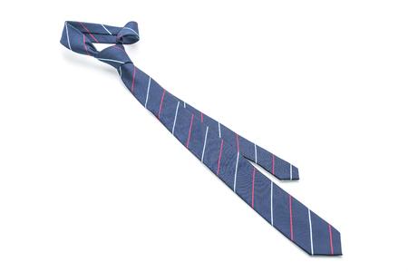 beautiful necktie isolated on white background