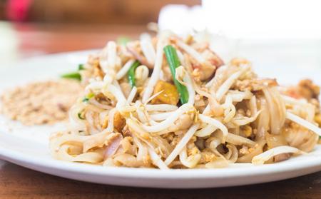 stir up: Stir-fried noodle with shrimp or Shrimps Pad Thai (Thailands national dishes)
