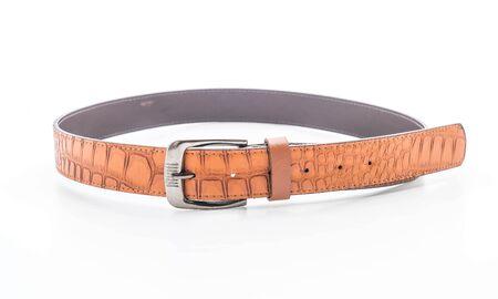 beautiful leather belt isolated on white background