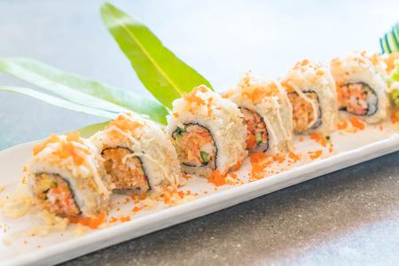 sushi roll maki tempura - japanese food style