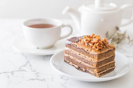 coffee toffee cake with tea