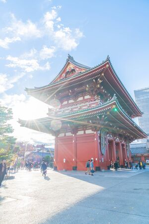 dori: Beautiful Architecture in Sensoji Temple around Asakusa area at Japan Editorial