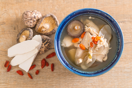 chicken and herb soup - healthy food