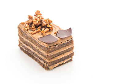 coffee toffee cake isolated on white background