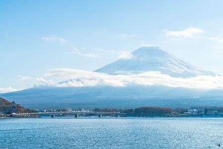 Mountain Fuji San at  Kawaguchiko Lake in Japan. Stock Photo - 78334751