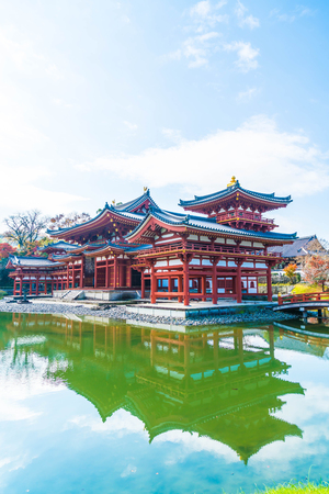 Beautiful Architecture Byodo-in Temple at Kyoto Japan. Stock Photo - 78282648