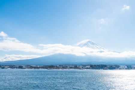 Mountain Fuji San at  Kawaguchiko Lake in Japan. Stok Fotoğraf - 78446262