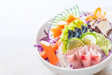 mixed sashimi set - japanese food style