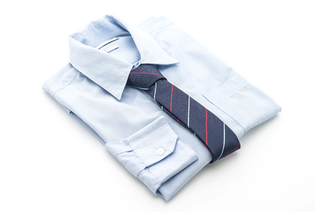 shirt with necktie on white background