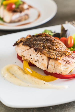 white perch: snapper fish steak with vagetable