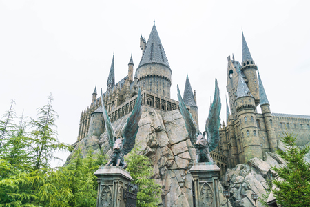 holiday movies: Osaka, Japan - NOV 21, 2016: The Wizarding World of Harry Potter in Universal Studios Japan. Universal Studios Japan is a theme park in Osaka, Japan.