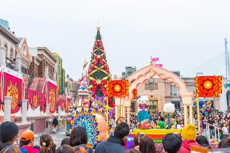 Osaka, Japan - NOV 21 2016 : New parade ,Reborn Parade, to celebrate 15th anniversarsy of the opening at Universal Studios Theme Park in Osaka, Japan.