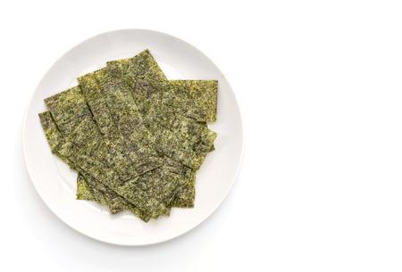 algues séchées isolés sur blanc Banque d'images