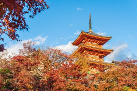 unesco: Beautiful Architecture in Kiyomizu-dera Temple Kyoto, Japan